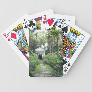 Kort för trädgård & för Gazebo för Charleston Spelkort