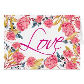 Kort för valentin för blom- ram för kärlek