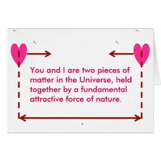 kort för valentin för grundattraktion nerdy roligt