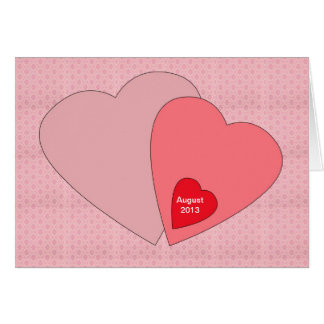 Kort för valentines daygravidmeddelande