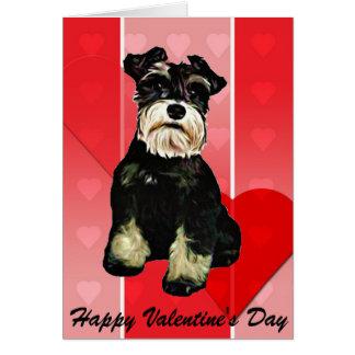 Kort för valentinSchnauzerhund