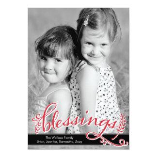 Kort för välsignelsehelgdagfoto 12,7 x 17,8 cm inbjudningskort
