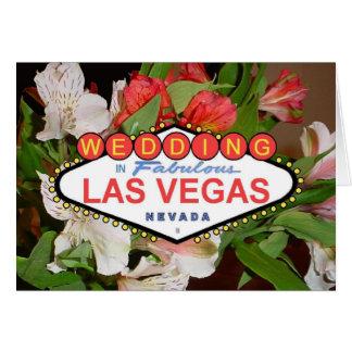 Kort för vår blommorLas Vegas bröllop