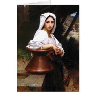 Kort för vatten för Bouguereau italienskt