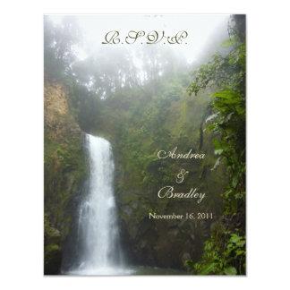 Kort för vattenfallbröllopsvar 10,8 x 14 cm inbjudningskort