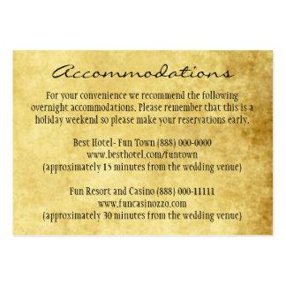 Kort för vintage bröllopmellanläggsmottagande visitkort mallar