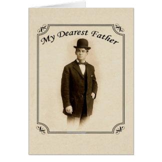 Kort för vintagegentlemanfars dag