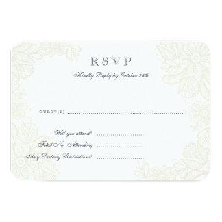 Kort för vintagesnöresvar 8,9 x 12,7 cm inbjudningskort