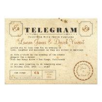Kort för vintageTelegraminbjudan