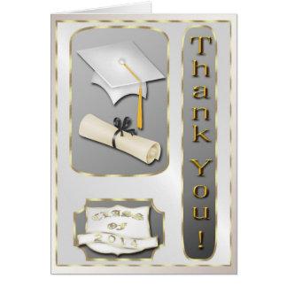 Kort för vit- och guldstudententack
