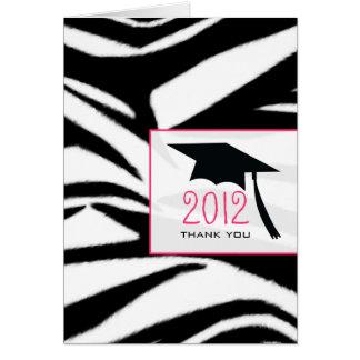 Kort för zebra tryckstudententack