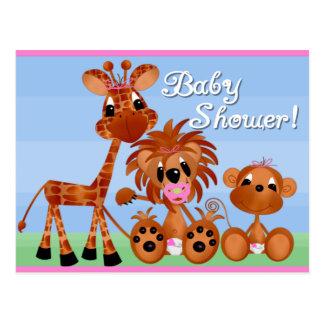 Kort för Zoodjurbaby shower