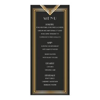 Kort | Gatsby för art déco20-talmenyn inspirerade 10,2 X 23,5 Cm Inbjudningskort
