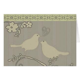 ~-kort/inbjudningar för två love birds