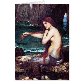 Kort:  John Waterhouse - en sjöjungfru Hälsningskort