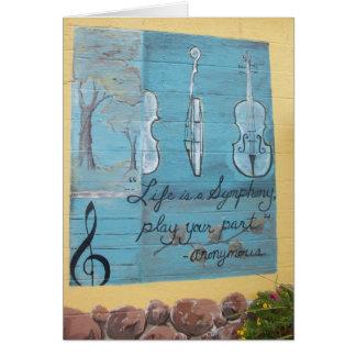 Kort: Lindenbackehus av musik, Mpls., MN Hälsningskort