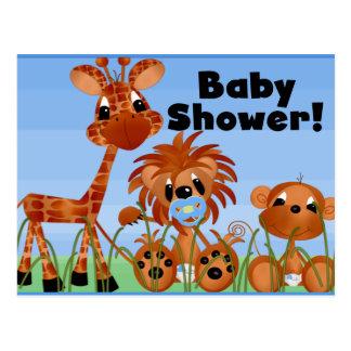 Kort och vykort för blåttdjurbaby shower