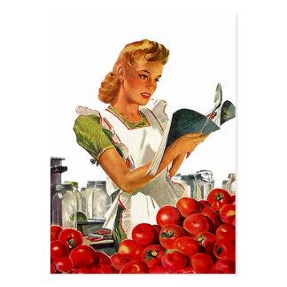 Kort på burk för märkre för gåva för Retro kök för Set Av Breda Visitkort
