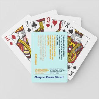 Kort som leker klassikern inte, cyklar dunkelt: spelkort