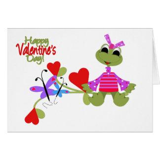 Kort-Valentin groda Hälsningskort