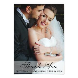 Kort WS för brölloptackbrud & brudgumfoto 12,7 X 17,8 Cm Inbjudningskort