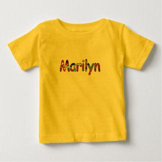 Kortärmadt-skjorta för Marilyn i gul färg Tshirts