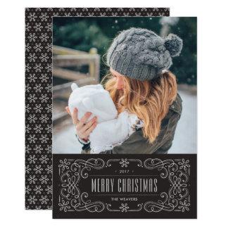 Kortet för helgdag för Snowflakekrusidullramen - 12,7 X 17,8 Cm Inbjudningskort