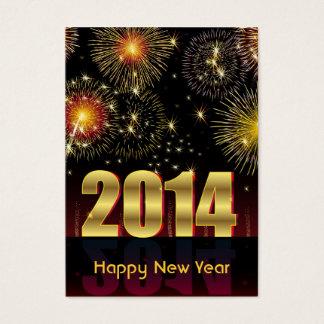 Kortgott nytt år 2014 visitkort