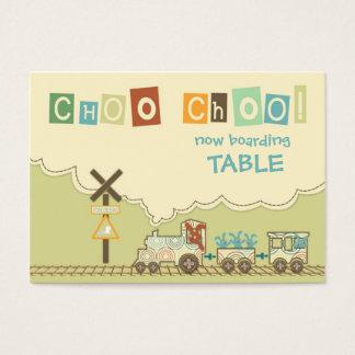 Kortkort för lägenhet för kort för Choo Choo