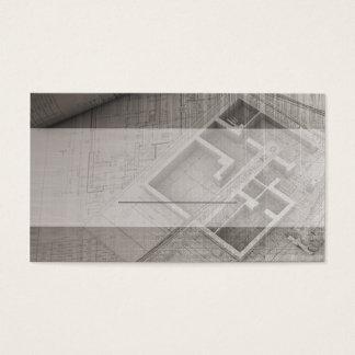 kortmall för arkitekt- och fastighetindust visitkort