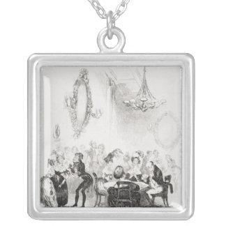 Kortrummet på badet silverpläterat halsband