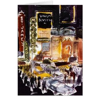 KortTheatreområde New York City NYC Broadway OBS Kort