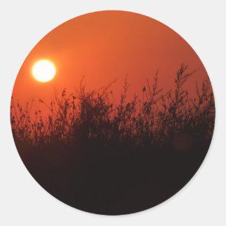 Kos solnedgång runt klistermärke
