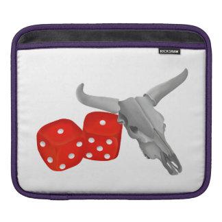 Koskalle och spelareskittärning sleeve för iPads