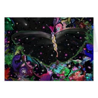 Kosmisk fjäril hälsningskort