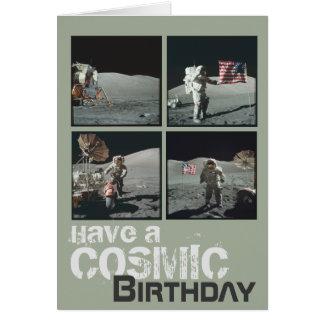Kosmisk födelsedag hälsningskort