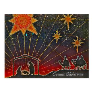 Kosmisk jul - helgdagskort vykort
