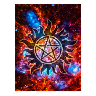 Kosmisk Pentagram Vykort