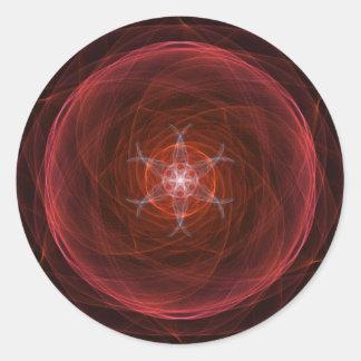 Kosmisk röd Orb Runt Klistermärke