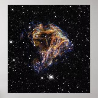 Kosmisk tryckvåg för N49 Poster