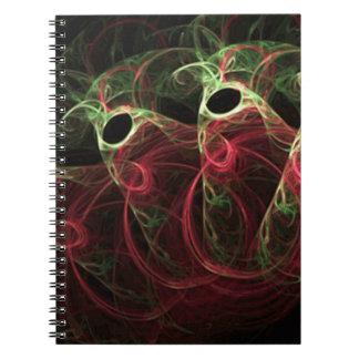 Kosmiska kottar anteckningsbok med spiral