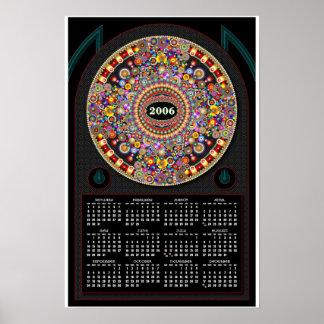 Kosmiskt cirkla kalendern 2006 poster