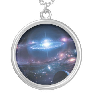 Kosmoshalsband Silverpläterat Halsband
