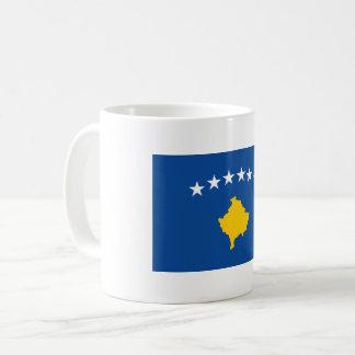 Kosovo flagga kaffemugg