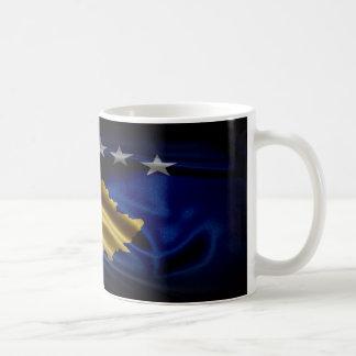 Kosovo flaggatyg kaffemugg
