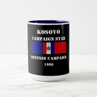 Kosovo försvarkampanj Två-Tonad mugg