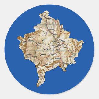 Kosovo kartaklistermärke runt klistermärke