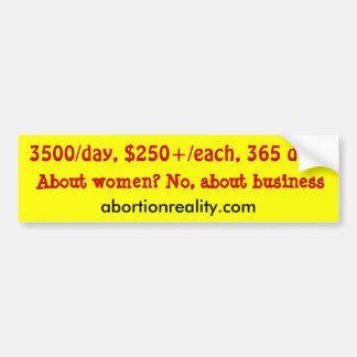 kosta av abort bildekal