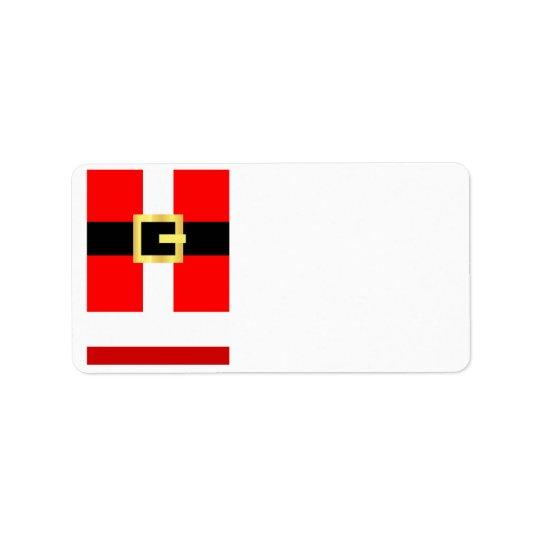 Kostymjulen för KRW Santa förbigår adressetiketten Adressetikett