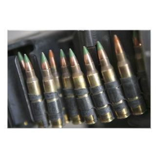 Köt kulor för en automatisk wea för squad M-249 Fototryck